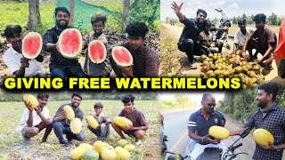 FREE WATERMELONS !! எனது பயணம் to an Island Village near Chennai