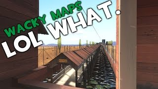TF2 - Wacky Maps! Super Long 2Fort, Upsidedown Turbine!