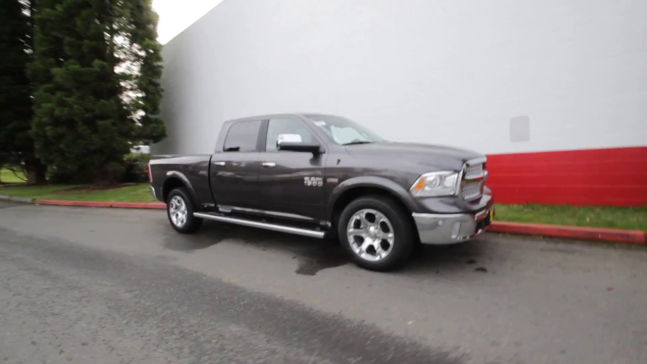 2017 dodge ram 1500 laramie crew cab 4x4 granite metallic hs559052 redmond seattle youtube. Black Bedroom Furniture Sets. Home Design Ideas