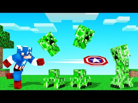 MINECRAFT But We PLAY As CAPTAIN AMERICA!