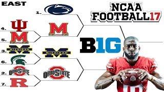 BIG 10 Tournament (East Round 2) NCAA Football 2017 (2016 Season on NCAA 14)