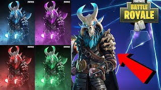 NUOVO- COMPLETAMENTE UPGRADED RAGNAROK SKIN CON LUCI! Fortnite Battle Royale TIER 100 SKIN AGGIORNAMENTO!