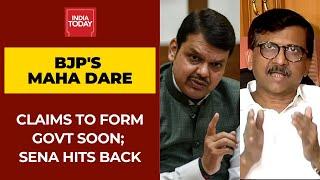 BJP Dares To Form Govt In Maharashtra Soon; Shiv Sena Hits Back