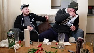 Chilli Eating Competition With My UNCLE!! (Laughing/Crying/Projectile Milk)