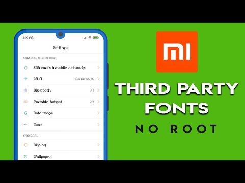 APPLY THIRD PARTY FONTS On XIAOMI PHONES | NO ROOT | हिन्दी