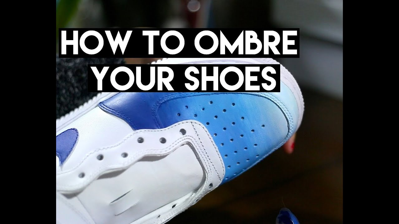 Quick DIY | How To Ombre & Gradient Your Leather Shoes With Angelus Acrylic  Paint - YouTube
