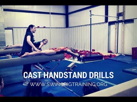 cast handstand drills  youtube