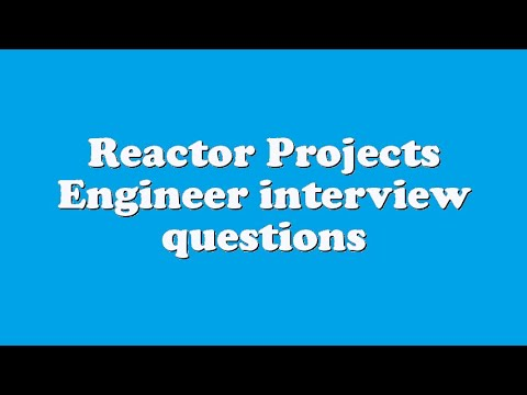 Reactor Projects Engineer interview questions