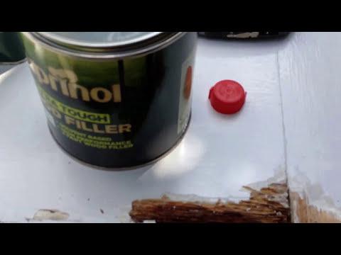 REPAIRING WOOD ROT ,Quick fix  ,,ON EXTERIOR DOOR  DIY TIPS