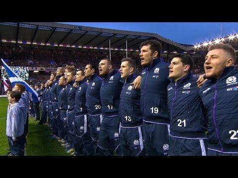 Scottish National Anthem Scotland v England 6th February 2016