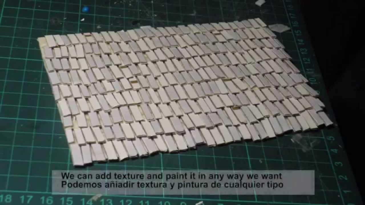 Warhammer tutorial tejados rooftops youtube for Como hacer tejados de madera