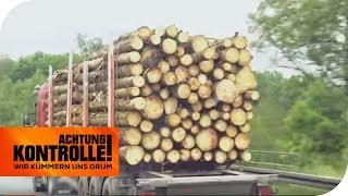 Holzlaster überladen: Jetzt muss er 5 Tonnen abladen! | Achtung Kontrolle | kabel eins