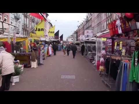 Walking Albert Cuyp street market (Amsterdam)