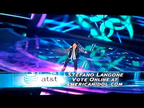 Stefano Langone- Lately, by Stevie Wonders- on American Idol (LAST WEEKS PERFORMANCE)