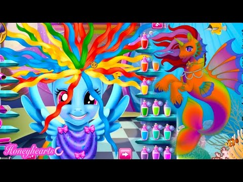 Rainbow Dash Hair Style & Create A Mermaid Pony - Let's Play Online Games - Honeyheartsc