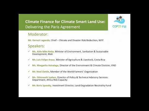 IFAD: Climate finance for climate smart land use: Delivering the Paris Agreement