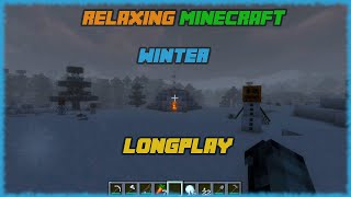 Minecraft - Relaxing Winter Longplay (Relax, Study, Sleep) [No Commentary]