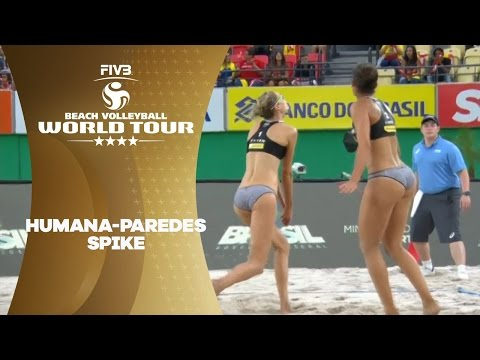 Great spike from Humana-Paredes! - FIVB World Tour 2017 Rio