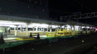 [FHD]日鐵チキ甲種輸送@京都(20150421) Delivering Rail transport Freight car