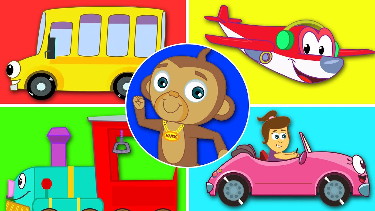 Мы в машине - песня о машине | Мультфильмы для малышей | HooplaKidz песенки для детей