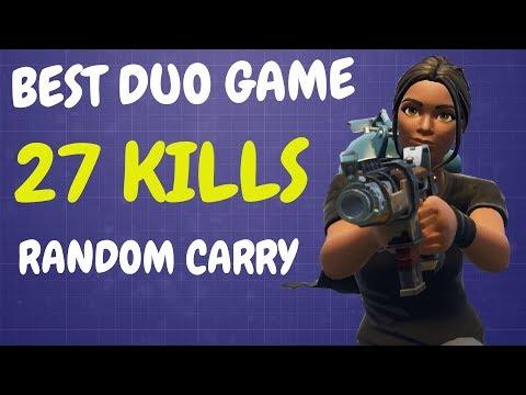 BEST DUO GAME EVER | 27 KILLS | Random Duo