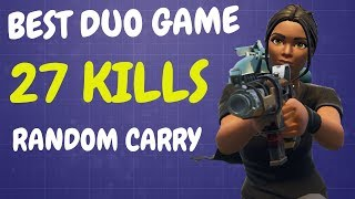 BEST DUO GAME EVER | 27 KILLS | Random Duo