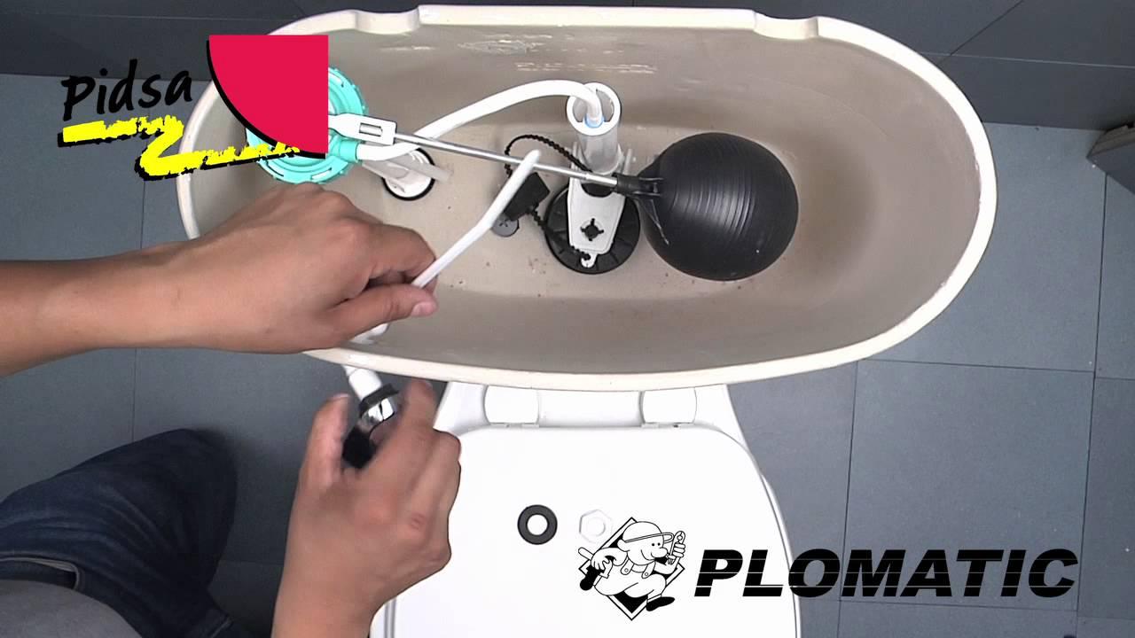 C mo instalar la palanca universal pl stica cromada para w for Como colocar una mochila de inodoro