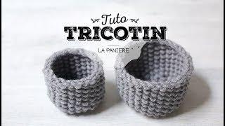 Tuto tricotin : la petite panière / Loom knit a basket
