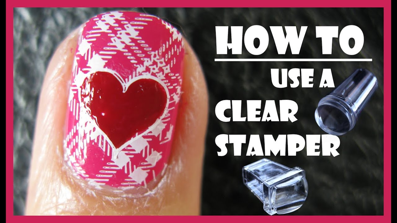 How to use a clear stamper for stamping nail art designs pink how to use a clear stamper for stamping nail art designs pink plaid nails meliney youtube prinsesfo Choice Image