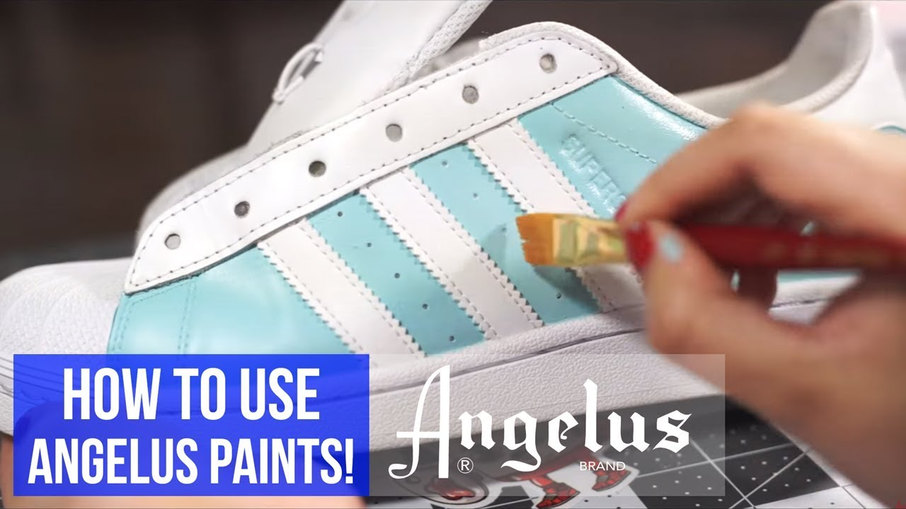 Angelus Leather Paint Tilpass, rengjør og gjenopprett sko  Customize, Clean, and Restore Shoes