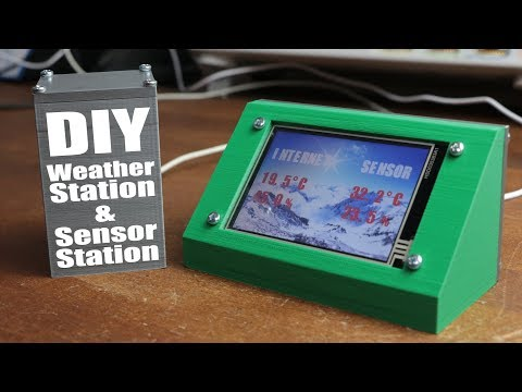 DIY Weather Station & WiFi Sensor Station || ESP8266, Nextion LCD