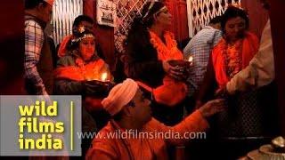 Aarti of Lord shiva during Khad deeva at Kamleshwar temple