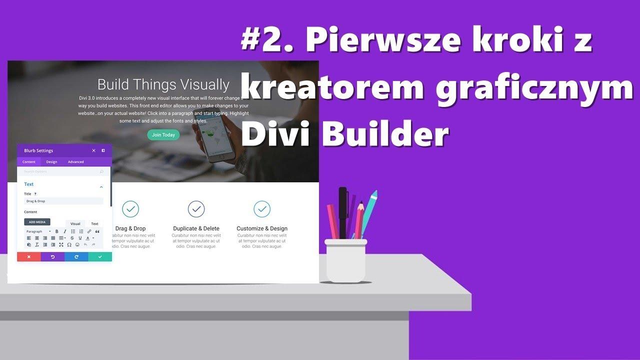 2 pierwsze kroki z kreatorem graficznym divi builder - Divi builder 2 0 7 ...
