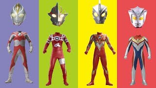 Wrong Heads Ultraman 7 Astra Mebius Ace Dina Finger Family Song Nur...