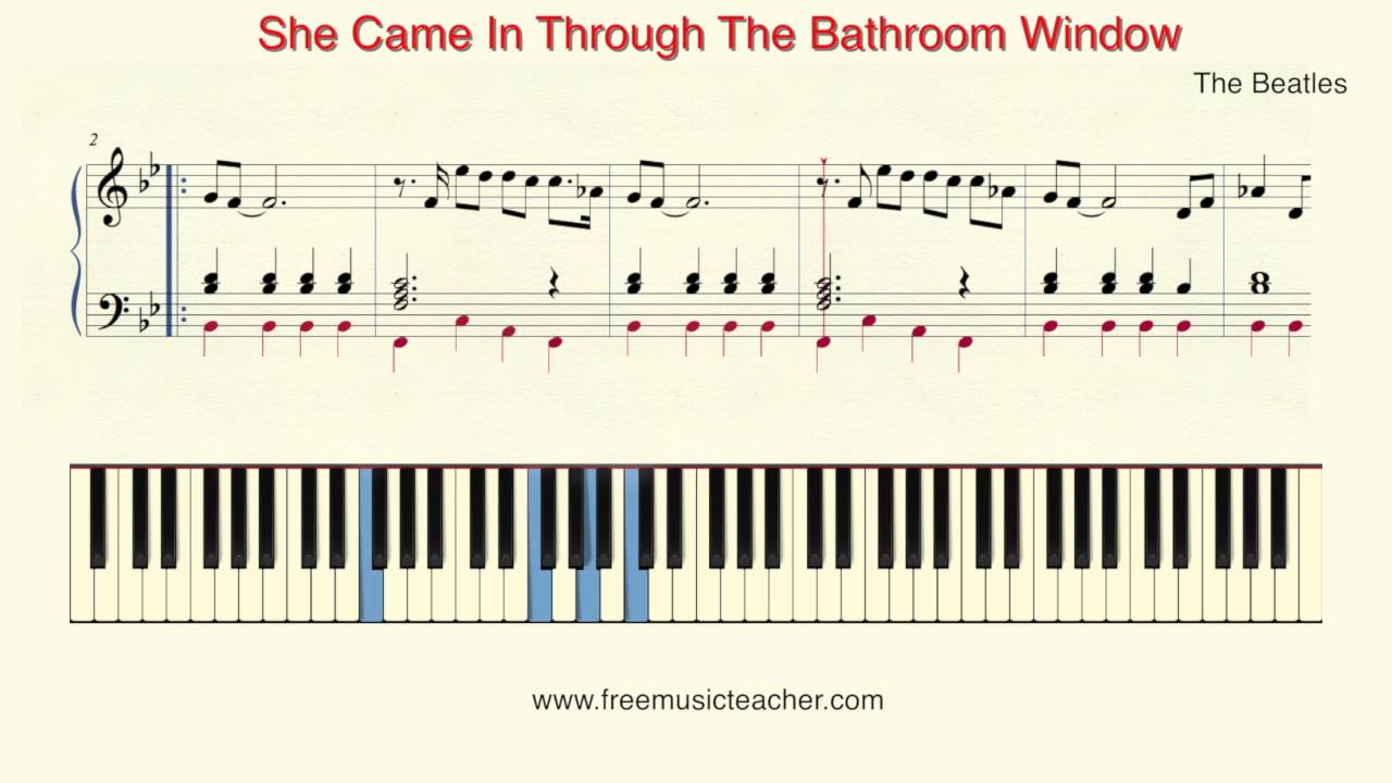 How To Play Piano The Beatles She Came In Through The Bathroom Window By Ramin Yousefi Youtube