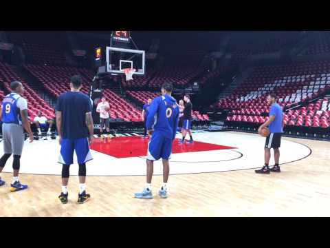Warriors (2-0) morning shootaround before G3 vs Blazers: Draymond, Stephen Curry, Durant, Klay