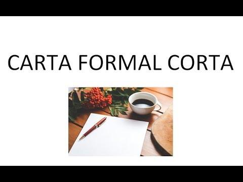 Carta formal corta