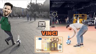VINCI 50€ se RIESCI il MESSI BOTTLE FLIP ! FOOTWORK a Genova