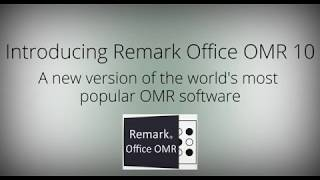 Announcing Remark Office OMR Software Version 10!