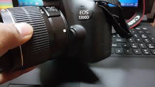 Reset settings in canon EOS 1300D DSLR