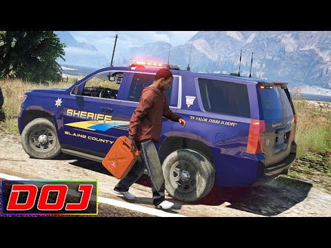 Stealing Cop's Fuel | GTA 5 Roleplay | DOJ #129