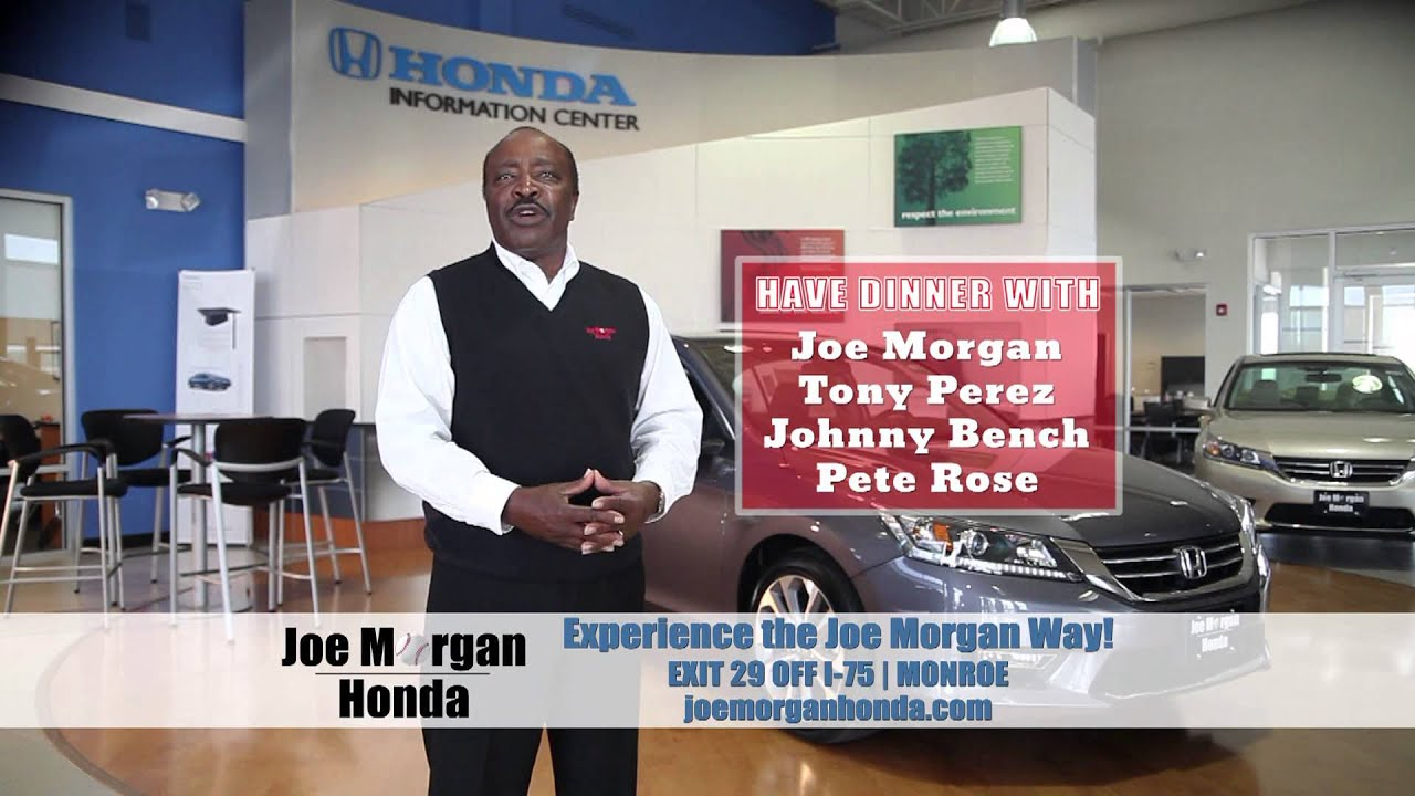 Joe Morgan Honda Big Red Machine Dinner! - YouTube