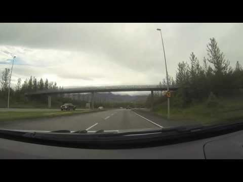 Driving out of Reykjavik towards North Iceland