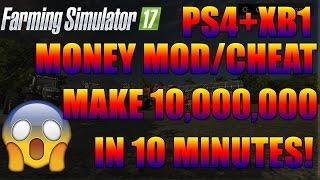Farming Simulator 2017 (PS4) |  MONEY CHEAT BOX!! | How To Get ALOT of Cash/Money PS4 | XB1