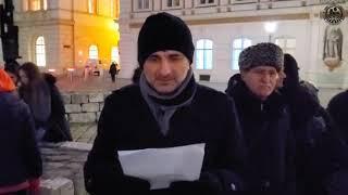 Демонстрация против лишения чеченцев статуса политбеженца