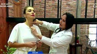 En ardor del la tiroides de cuello sensación
