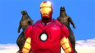 Süper kahraman kapışmaları serimiz başlıyor. 1000 godzilla vs ironm...