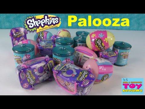 Shopkins Surprise Eggs Food Fair Fashion Spree Opening Palooza | PSToyReviews