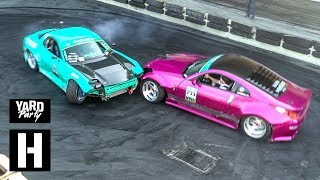 Rotary vs V8 Tandem Drift Car Shredding