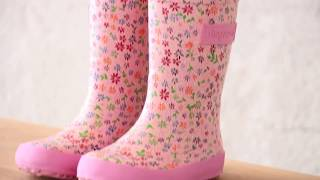Quality childrens rain boots from bisgaard (92007.999 - 159 rose flowers)